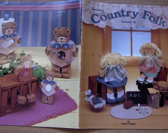Vintage 80s tole painting book COUNTRY FOLK vol. 3