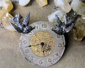 The Years Fly By - Citrine, Sterling Silver Birds and Beautiful Watch Face