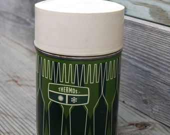 1970's Green Thermos Made By King-Seeley Thermos Company