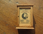 Dollhouse Decor- Dr A.C. Damiels Advertising Wooden Cabinet #31