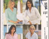 Blouse Pattern, Shirt Pattern, McCalls 3284, Sleeve Variations, Casual Blouse, Dressy Shirt, Palmer Pletsch Classic Fit, Misses 12 14 16