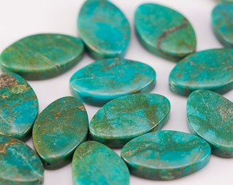 Chinese turquoise beads, 12x19mm