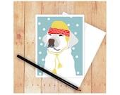 Labrador Retriever, Christmas Card Set, Lab Dog, Dog Cards, Seasons Greetings, Holiday Cards, Dog Christmas Card, Dog Christmas, Let It Snow