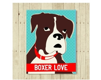 Boxer Magnet, Boxer Dog, Boxer Gift, Dog Lover Gift, Boxer Art, Small Gift Magnet, Boxer Decor, Fridge Magnet, Refrigerator Magnet