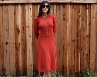 Vintage 70s Designer St. JOHN by MARIE GRAY Label Knit Dress