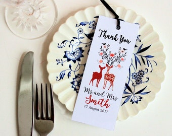 Bookmark Wedding favor - Personalized - Print your Own - Budget friendly wedding favor - Bookmark Favors