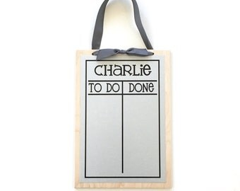 Chore Chart - 9 x 13 magnetic, personalized chore board