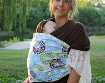 Front & Back Baby Carrier- Spa Fizz- Hybrid Wrap Baby Carrier for Newborn to Toddlers - All of the Benefits of a Woven and a Stretchy Wrap