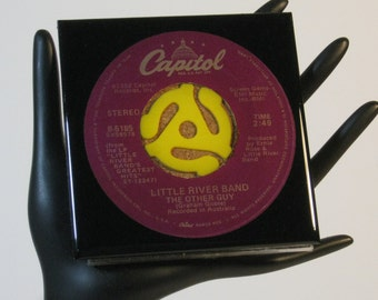 Little River Band - Very Groovy Drink Coaster Made with The Original 45 rpm Record