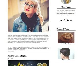 Blog Design WordPress Blog Theme - Blog Template - WordPress Template -  Genesis Child Theme With Installation - Brooklyn