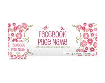 Timeline Cover and Profile Picture - Facebook Timeline Cover - Floral Facebook Cover - Social Media Cover - Katrina 2