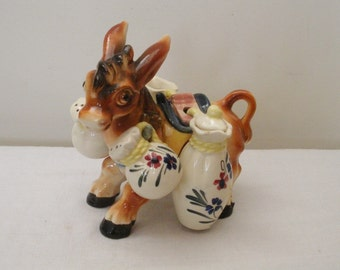 Vintage Donkey with S & P and Oil and Vinegar