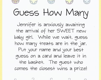 guess how many baby shower candy game baby shower candy jar