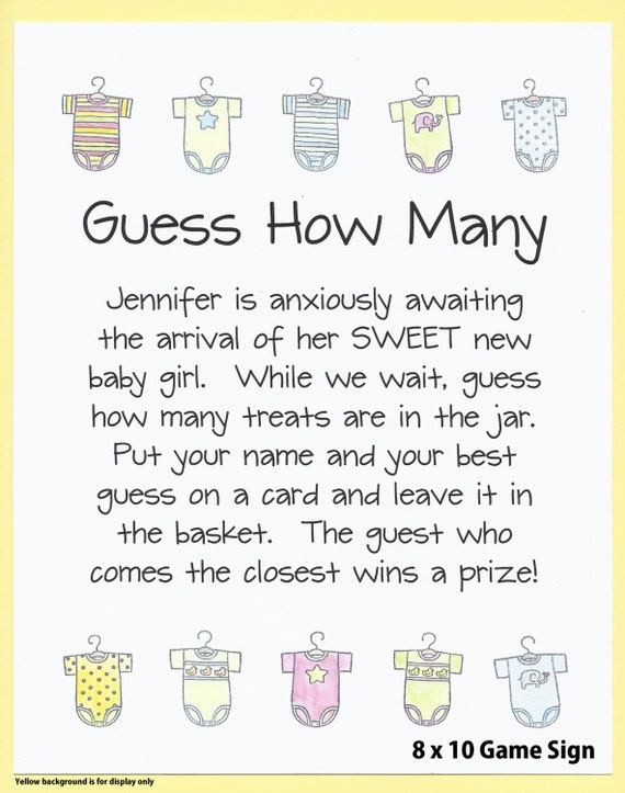 how many baby shower candy game baby shower candy jar guessing game