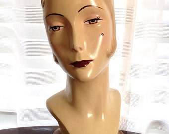 Stunning Art Deco Style Mannequin Head Katherines Collection Discontinued