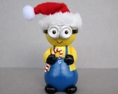 Two Eyed Santa Minion Ornament