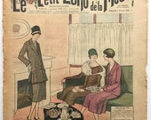 Vintage French Newspaper 1926 Le Petite Echo de la Mode