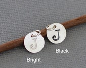 Hand Stamped Sterling Silver Letter Charm / Initial Charm for Necklace or Bracelet