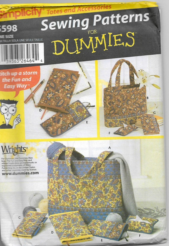 Easy Fabric Book Cover Patterns ~ Uncut sewing patterns for dummies simplicity craft easy