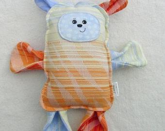 Sonny Bear -  Pellicanos Zamira Lumio Wrap Scrap Bear Pillow Plush - Hand Drawn Face