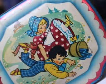 Nursery Rhyme Tin George Horner England VINTAGE by Plantdreaming