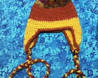 Boy Crochet Hat with Ear Flaps