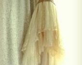 "Final Pmt. Danielle H. ..""Belle"" Rustic   Beach  Shabby French Champagne Tea Ivory Cream Vintage Inspired  Wedding Dress Altered Slip"