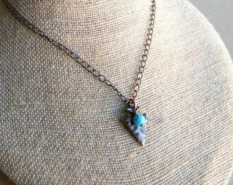 Arrowhead Necklace, Copper Arrowhead Pendant, Copper Necklace, Arrowhead Charm