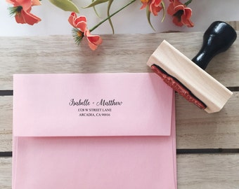 Custom Address Stamp Return Address Stamp Wedding Stamp (check detail before ordering 10-14 DAYS processing)