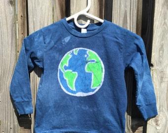 Kids Earth Day Shirt (5/6), Kids Earth Shirt, Boys Earth Day Shirt, Girls Earth Day Shirt, Blue Earth Day Shirt, Kids Earth Shirt