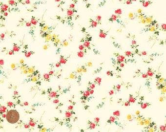Liberty Tana Lawn Fabric, Liberty of London, Liberty Japan, Elizabeth, Cotton Print Scrap,  Floral Rose, Romantic Quilt, Patchwork, kt5049a