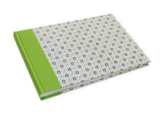 x large photo album moon dot green