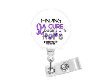 "Pancreatic Cancer Awareness Ribbon 1.5"" Badge Holder - Awareness Badge Reel - Hematologist Badge - Oncology Nurse Badge Reel - Medical Badge"