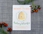 Printable Custom Bee Baby Shower Invitation