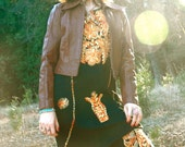 1970s Vintage Leather Jacket... 70s Brown Leather... Perfect Fit