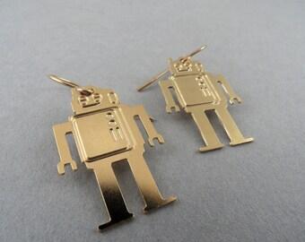 robot earrings, robot jewelry, robot charm, robot