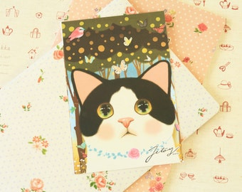 Jewelry 17 Choo Choo Cat Postcard