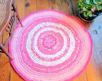 rag rug, baby, bedding, girl crib bedding, kumari garden baby, pink nursery, baby girl rug, baby bedding, kumari garden, Lilly Pulitzer #62