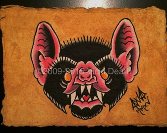 Bat Head Original Painting