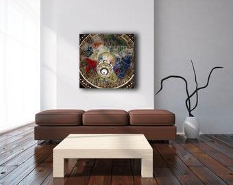 Chandelier Wall Art, Large Canvas Wall Art, Paris Decor, Paris Photography on Canvas