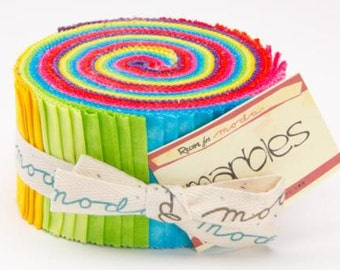 Marble Jelly Roll Citrus by Moda-9880JR 13