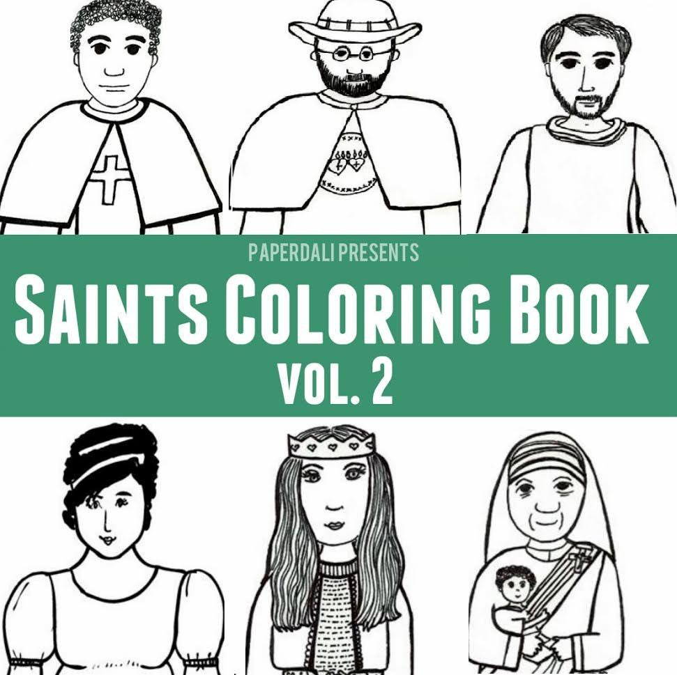 catholic saints coloring book vol 2
