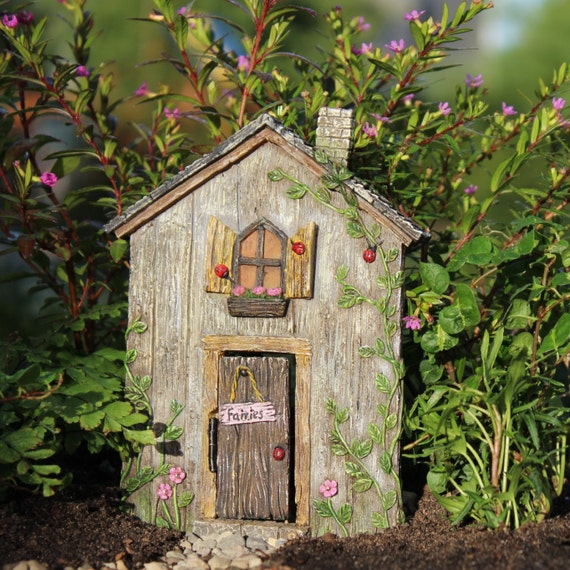 "Ladybug Fairy 5.25"" Door w/hinged Door for the Fairy Garden"