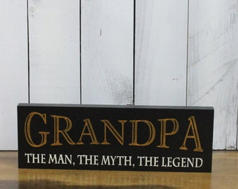 Dads bbq signgrill signhumorous signbbq signdads grandpa sign the man the myth the legendshelf sitterfathers sciox Gallery
