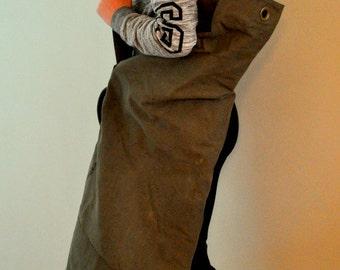 Vintage Army Canvas Duffel Bag, Large Canvas Bag, Travel Bag
