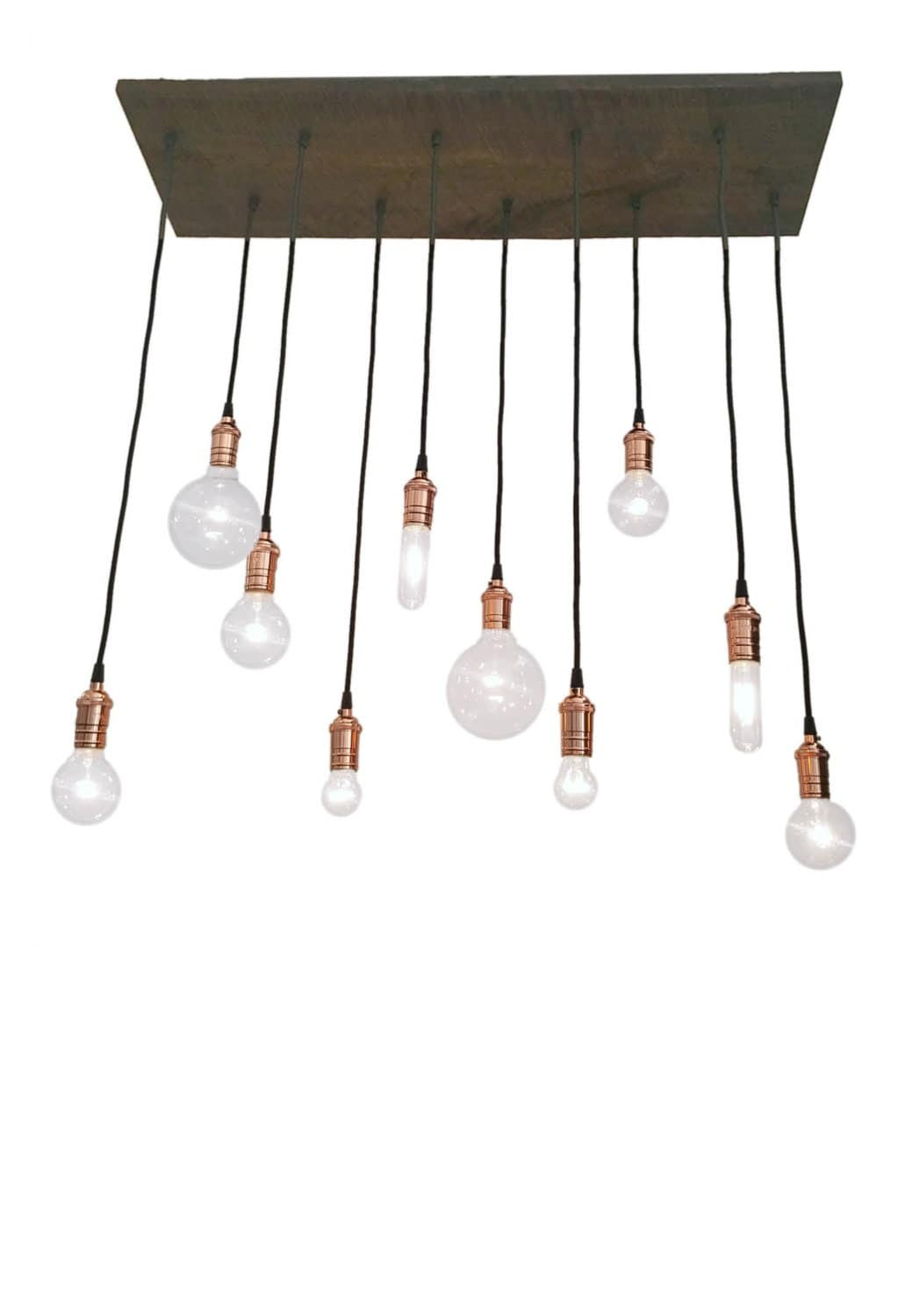 10 pendant reclaimed wood chandelier rustic chandelier for Wood pendant chandelier