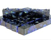 Cast Pen Blanks - Potpourri Grade Botanical Chrysanthemum Flowers In Blue Resin
