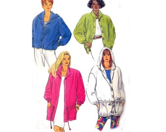 90s Anorak Hooded Jacket Pattern Butterick 5461 Vintage Sewing Pattern Sizes 8 10 12 Bust 30 - 34 inches
