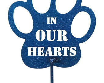 Hand Made In Our Hearts Blue Yard Art *NEW*
