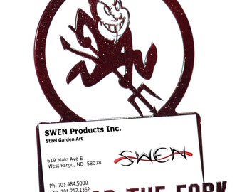 Arizona Sun Devils Maroon Metal Business Card Holder